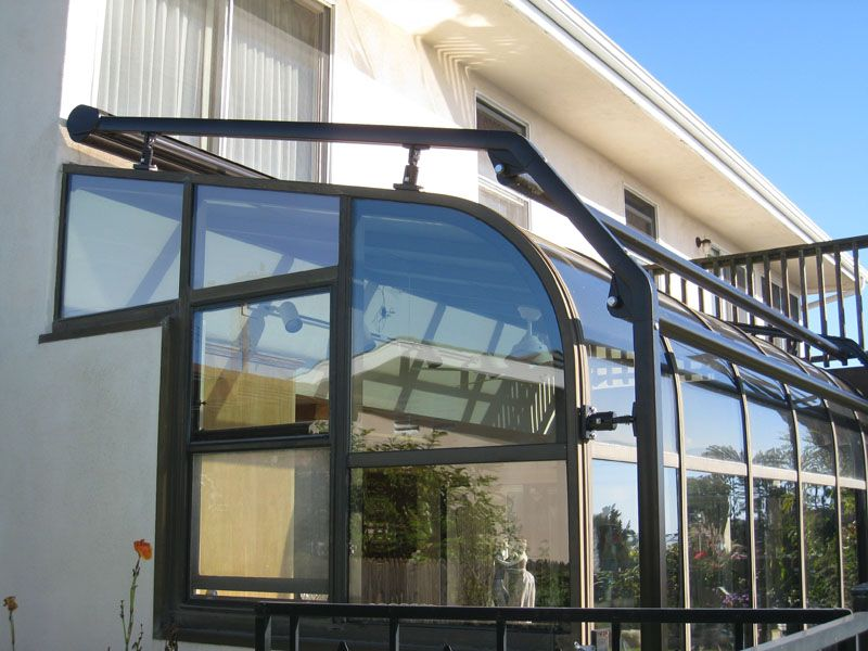 Curved Amp Straight Greenhouse Awning Installation Los